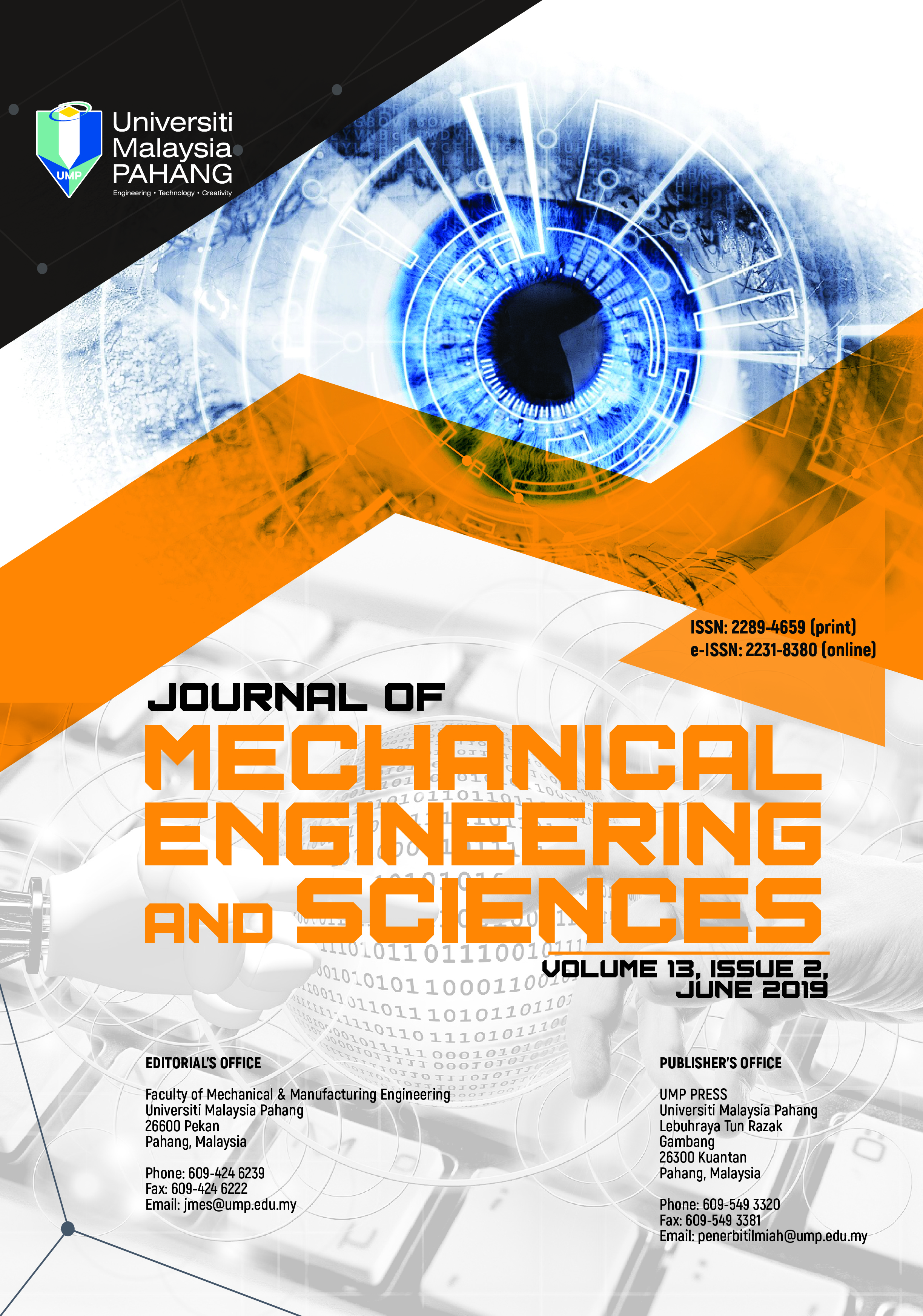 Journal of Mechanical Engineering and Sciences