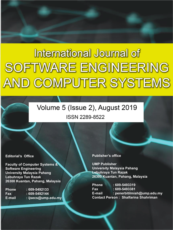 View Vol. 5 No. 2 (2019): International Journal of Software Engineering and Computer Systems