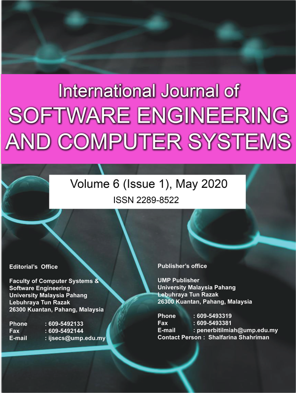 View Vol. 6 No. 1 (2020): International Journal of Software Engineering and Computer Systems