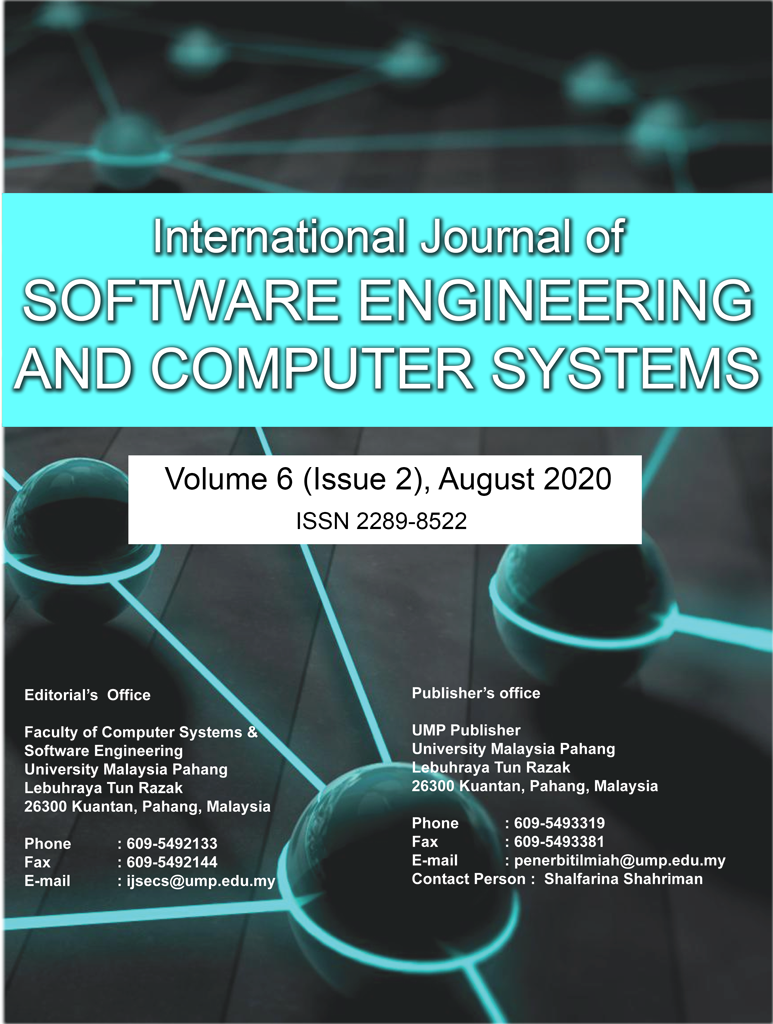 View Vol. 6 No. 2 (2020): International Journal of Software Engineering and Computer Systems