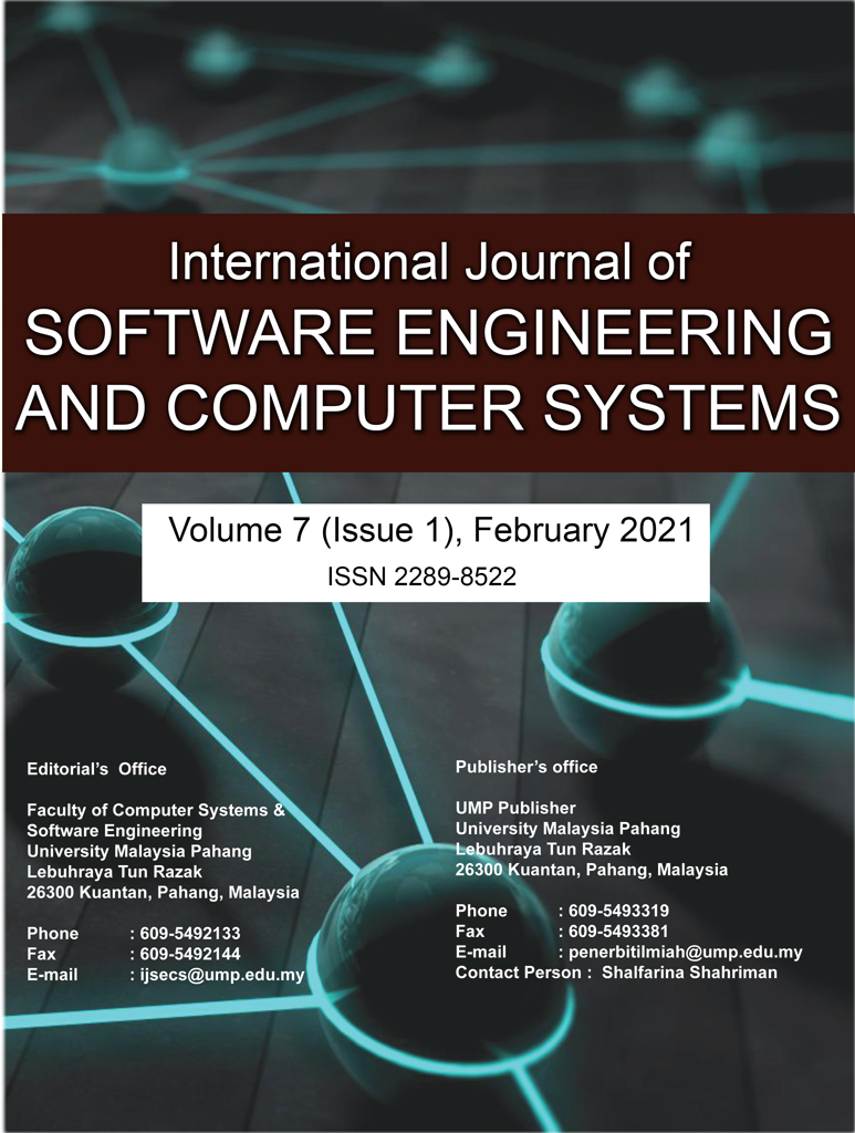 View Vol. 7 No. 1 (2021): Vol 7 No 1 (2021): International Journal of Software Engineering and Computer Systems